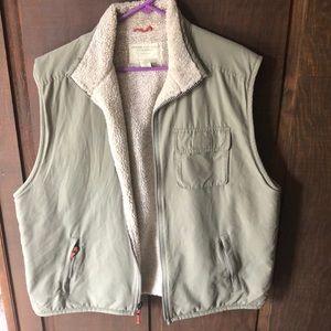 American Eagle Fleece Lined Zip Up Vest